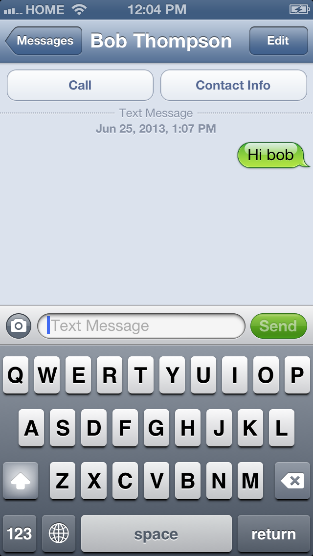 how to change between imessage and text