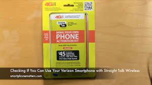 Checking If You Can Use Your Verizon Smartphone with Straight Talk Wireless