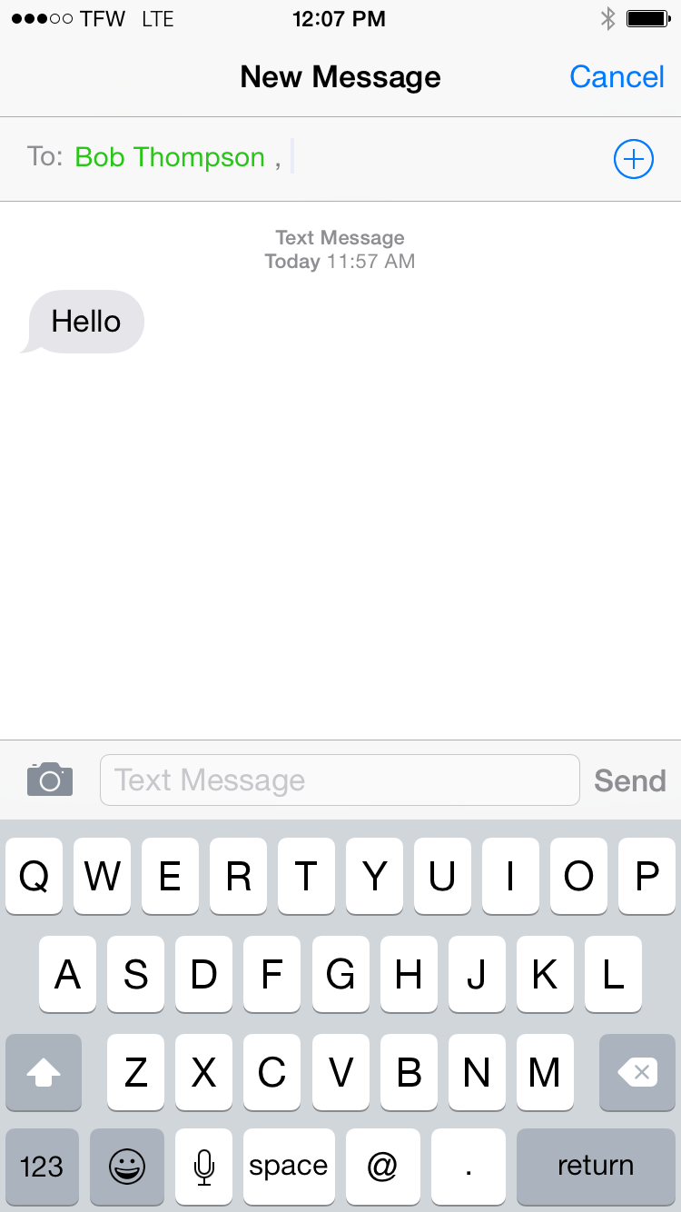 how to send group text iphone