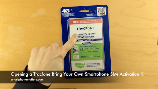 Opening a Tracfone Bring Your Own Smartphone SIM Activation