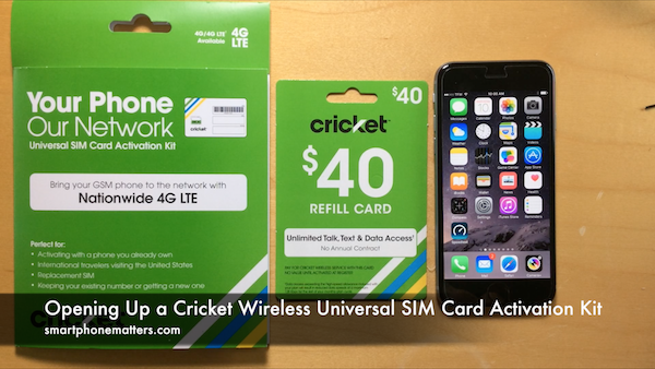 Opening Up a Cricket Wireless Universal SIM Card Activation Kit