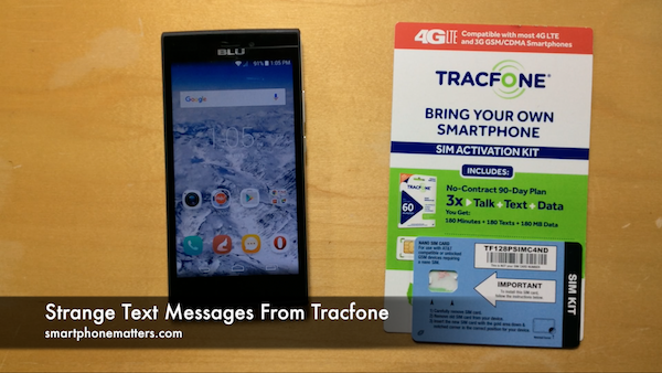 Strange Text Messages From Tracfone