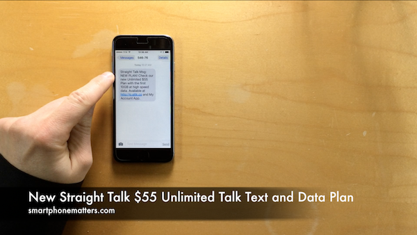 New Straight Talk $55 Unlimited Talk Text and Data Plan