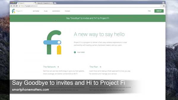 Say Goodbye To Invites and Hi to Project Fi