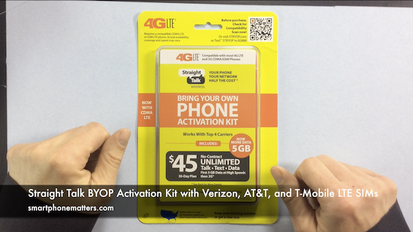 Straight Talk BYOP Activation Kit with Verizon, AT&T, and T-Mobile