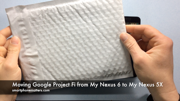 Moving Google Project Fi from My Nexus 6 to My Nexus 5X