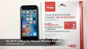 No Wi-Fi Calling for Verizon Wireless Prepaid