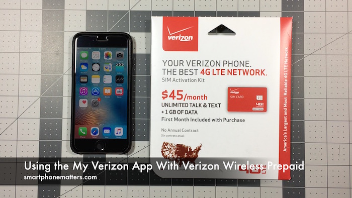 can you use verizon iphone on at t using the my verizon app with verizon wireless prepaid 4964