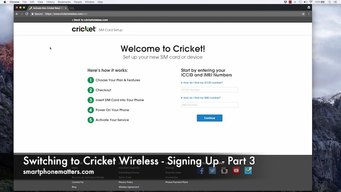 Switching To Cricket Wireless Signing Up Part 3