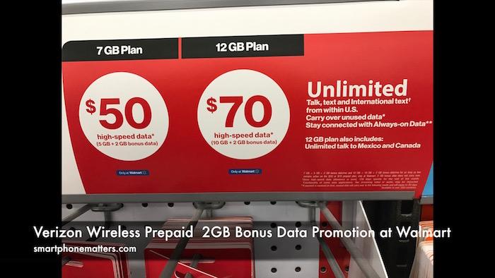 Walmart prepaid phone plans verizon
