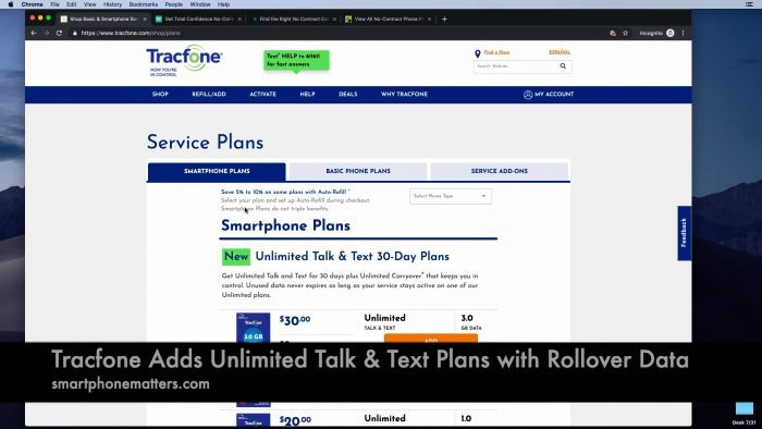Tracfone Adds Unlimited Talk & Text Plans with Rollover Data